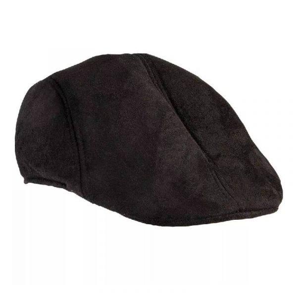 Black Suede Roaring 20s Cap