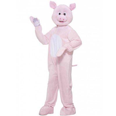 Plush Pinky Pig Mascot Costume