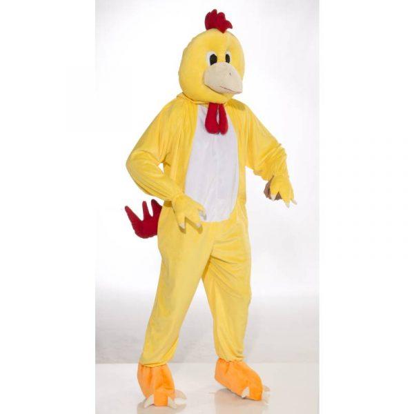 Plush Yellow Chicken Mascot Costume