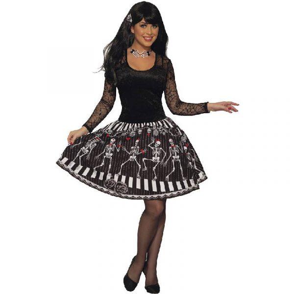 Skeleton Chorus Dress Halloween Costume