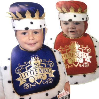Little King Little Queen Bib and Crown Set