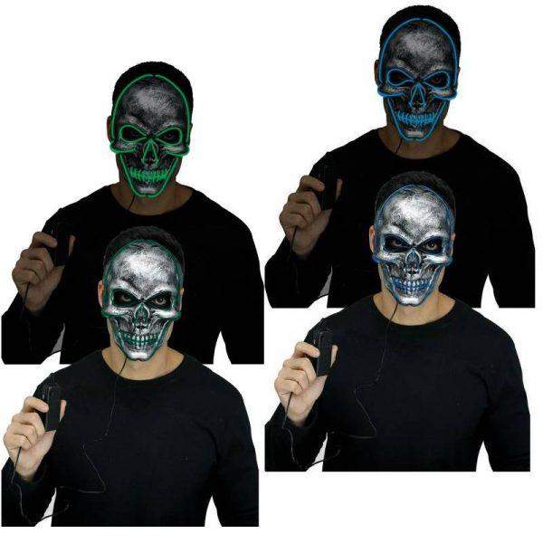 Glow Skull Masks Green or Blue
