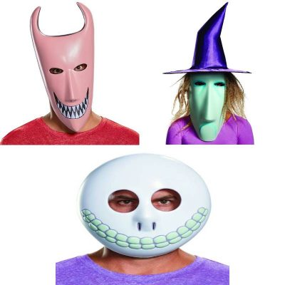 Nightmare Before Christmas Lock Shock and Barrel Masks