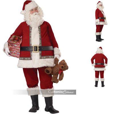 Deluxe Santa Suit w Accessories