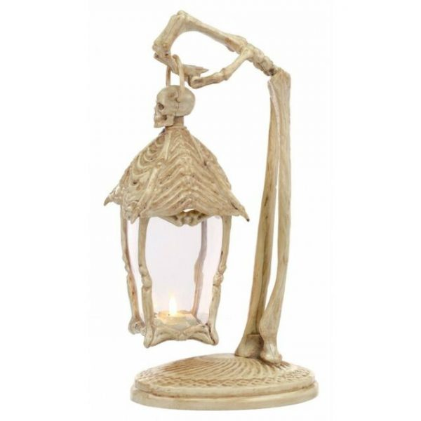 16 1/2 Inch Skeleton Arm Light-Up Lantern