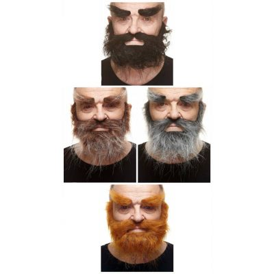Deluxe Full Beard Moustache Eyebrows Set
