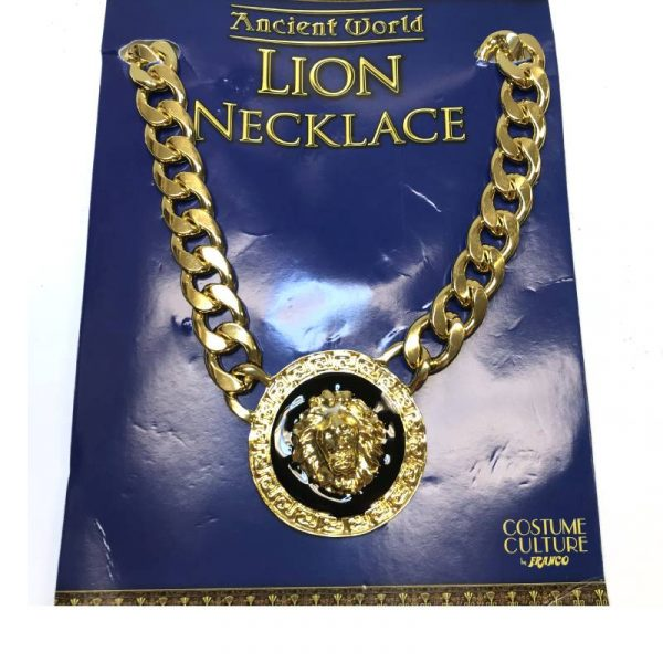 Deluxe Metal Lion Medallion Necklace