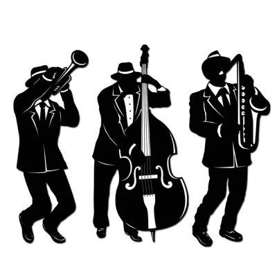 Jazz Silhouettes Cardboard Cutouts