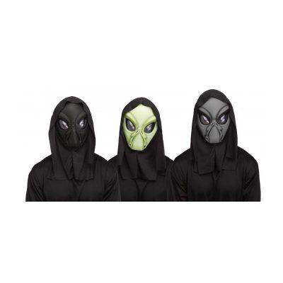 Costume Hooded Alien Mask w Shroud