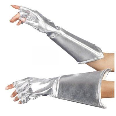 Metallic Fabric Medieval Galaxy Gauntlet Gloves
