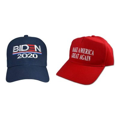 Presidential Election Year Ball Caps: Red Make America Great Again and black Biden 2020