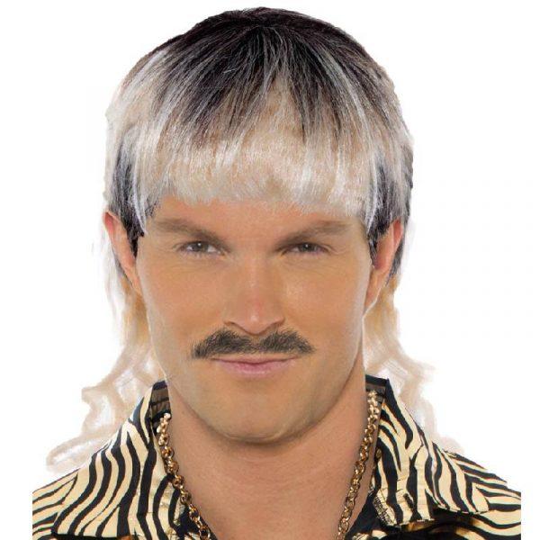 Mullet Wig Tiger King Joe Exotic Dark Brown to Blonde