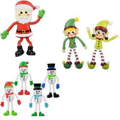4.5-inch-bendable-christmas-elf-santa-snowman