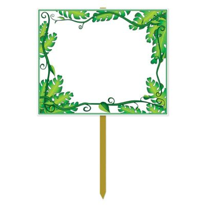 Blank Yard Sign with Jungle Border