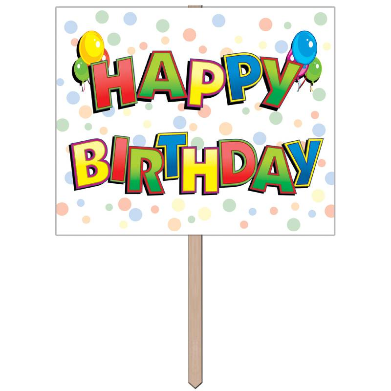 Happy Birthday Yard Sign