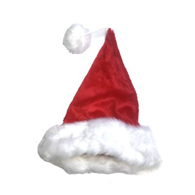 Extra Large Deluxe Plush Red Santa Hat Fits Over Wig