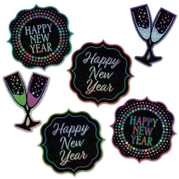 6 Happy New Year Cutouts