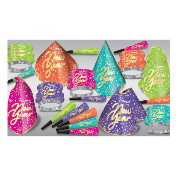 Neon Burst New Years Eve Party Assortment for 10