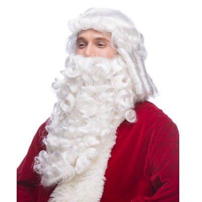 Santa Wig and Beard Professional White