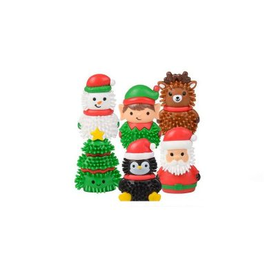 ZC-SPIKY-2-inch-rubber-spiky-christmas-figures