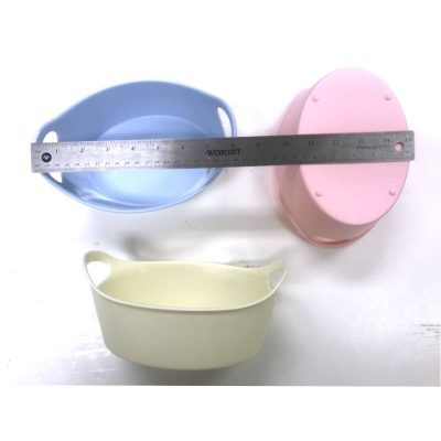 Small Oval Plastic Tubs with Handles