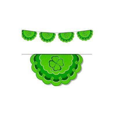 Saint Patrick's Day Irish Clover Bunting Banner