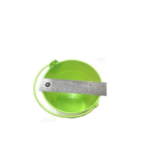 Lime Green Plastic Bucket with Handle