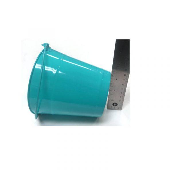 Turquoise Plastic Bucket with Handle