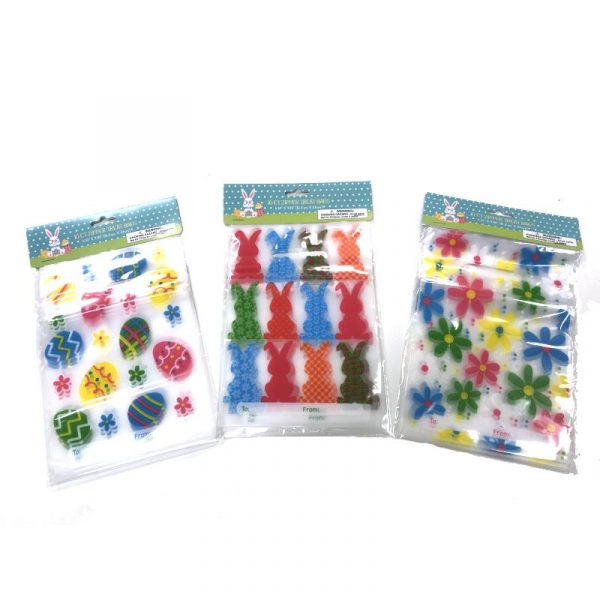 "6"" x 9"" Spring-Easter Plastic Zipper Treat Bags"