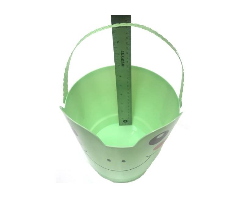 8″ Spring Easter Plastic Pail w Handle – Light Green