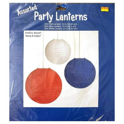 Red White Blue Assorted Party Lanterns