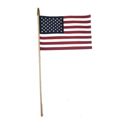 """8"""" by 12"""" Soft Cotton American Flag"""