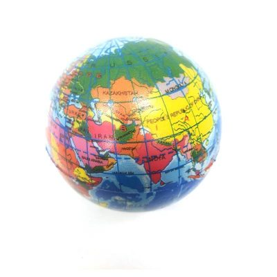 """4.5"""" Relaxable Printed World Globe"""