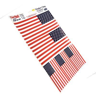 American Flag Window Clings