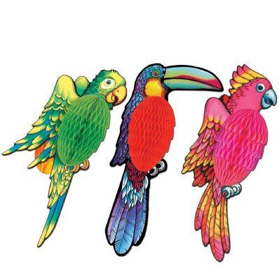 Parrot, Toucan, Cockatoo Tissue Decorations