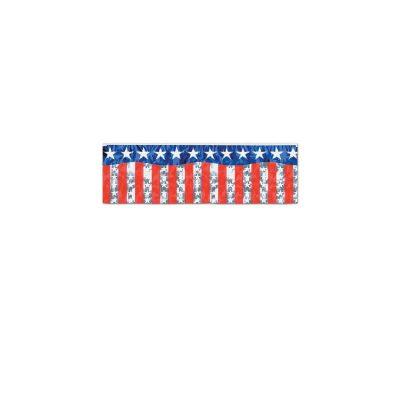 Stars and Stripes Metallic Fringe Banner
