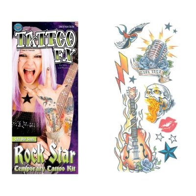 Rock Star Temporary Tattoo