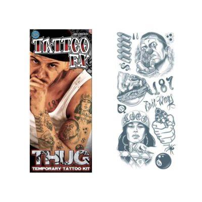 Thug Temporary Tattoo