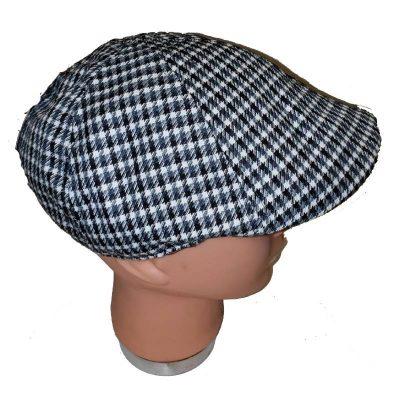 Black/White Ivy Check Newsboy Hat