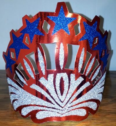 Foil Glittered Patriotic Tiara