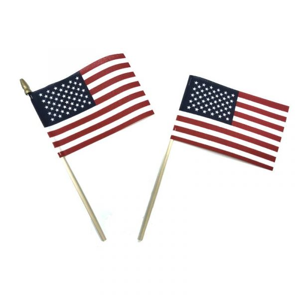 US Flag - Cotton with and without spear top finial