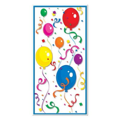 Balloons and Confetti Door Cover