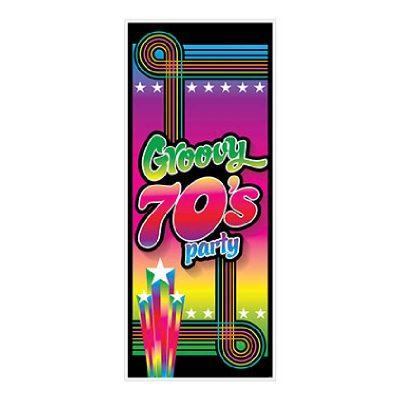 70s Groovy Party Door Cover