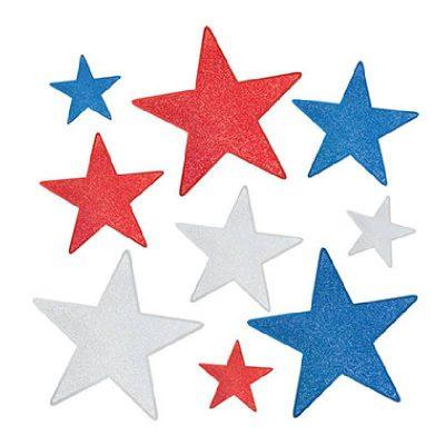 Glittered Foil Star Cutouts