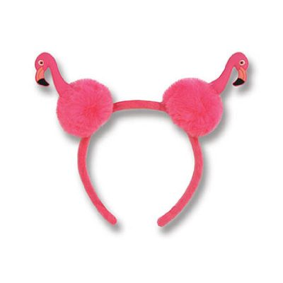 Flamingo Pom-Pom Headband