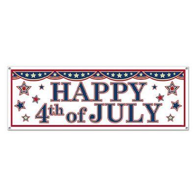 4th of July Sign Banner