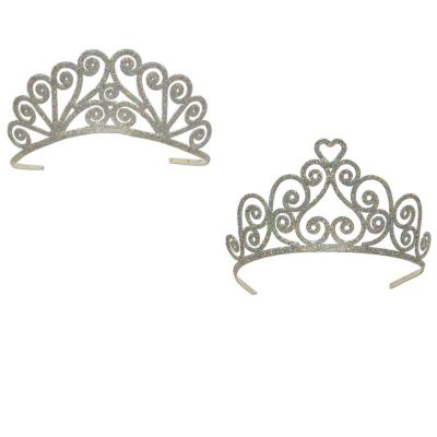 Glittered Metal Tiara