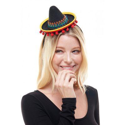 Felt Trimmed Sombrero Hat Headband