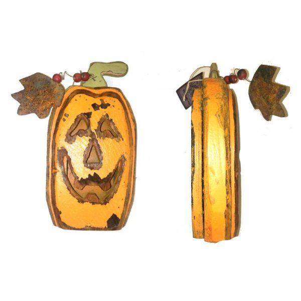 """11"""" Reclaimed Wood Jack-O-Lantern"""