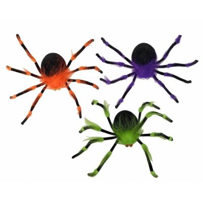 19 Inch Bendable Furry Colorful Spider